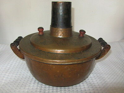 Antique Russian Copper Large Steam Pot