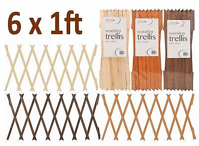 1-12 Expanding Wooden Garden Growing Climbing Plant Fence Panel Trellis 6ftx1ft