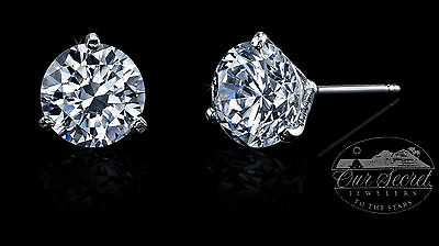 1 ct Martini Earring Russian Brilliant CZ Moissanite Simulant One Earring SS.925
