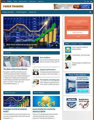 FOREX TRADING - RESPONSIVE, MOBILE FRIENDLY WEBSITE *Free Installation*