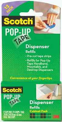 Scotch Pop-Up Tape 12 Pads 75 Strips Pad Dispenser Refills Office Tools Quality