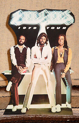 "Bee Gees 1979 Tour Poster Tabletop Standee 10 1/2"" Tall"