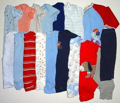 Baby Infant Boys Onesies Pants Sleeper Lot  0-3 3 3-6 mths Carters FREE SHIP