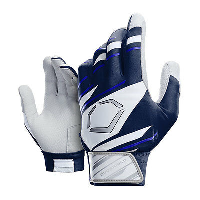 Evoshield 2.0 Protective Adult Baseball Batting Gloves - Navy/White - Medium
