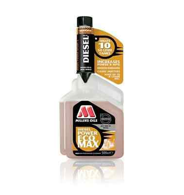 Millers Oils Diesel Power Ecomax Fuel Cleaner Additive Treatment 500ml 0.5L