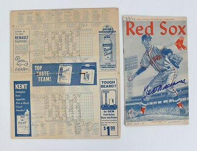 1960 Boston Red Sox – Ted Williams Signed Program & Score Card – JSA