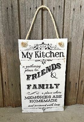 MY KITCHEN H50cm X W30cm - Rustic Vintage Style Timber Sign