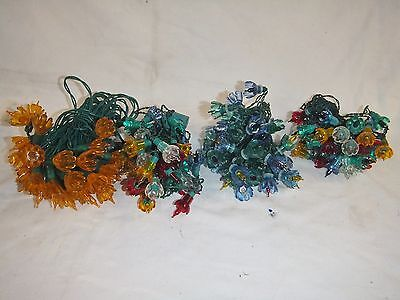 Lot  Vintage Christmas Lights Flower Tulip Covers Multi-Colored