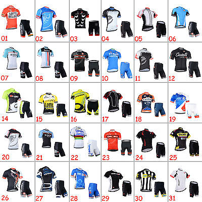 New Bike Riding Uniforms Cycling Jersey Shorts Outfits Cycle T-shirt Pants Kits