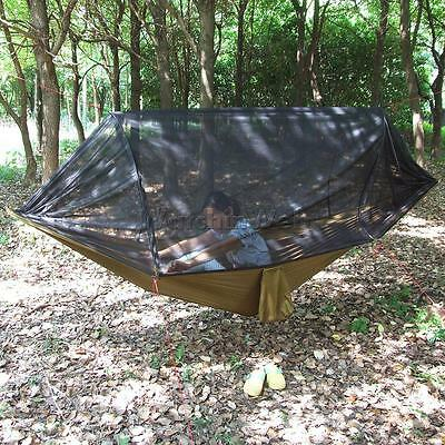 Lightweight Hammock Hang Bed Outdoor Jungle Camping Travel with Mosquito Net