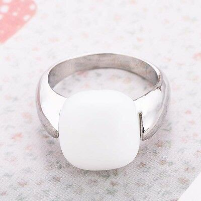 Women Fashion White Opal 925 Silver Ring Wedding Engagement Jewelry New Gift