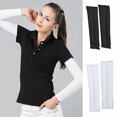 1 Pair Cooling Arm Sleeves Cover UV Athletic Protection outdoor Sports Band AU