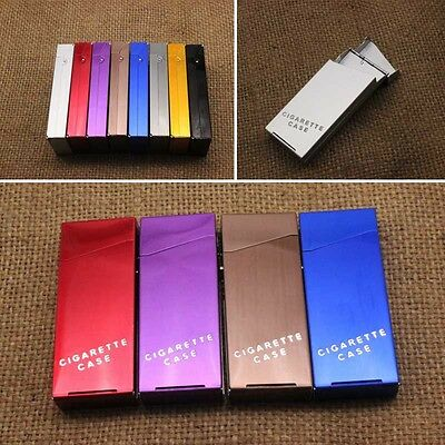 Slim Metal Aluminum Cigarette Case Holder Box Smoking Cigar Pocket Holder Red