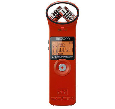 Zoom H1 Red Portable Handheld Field Recorder Handy Sound Recorder - New