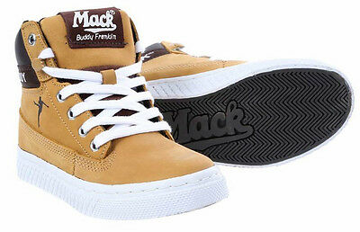 MACK BUDDY FRANKLIN Junior Lace-Up High Top Boots, , Nubuck Leather Honey