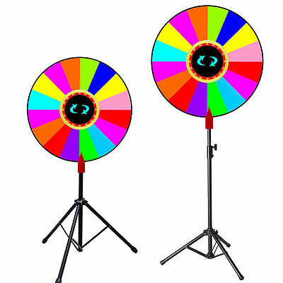 "Upgraded Editable 24"" Color Prize Wheel of Fortune Trade Show Tabletop Spin Game"