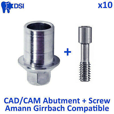 10x Dental CAD/CAM system connection Ti-Base abutment Internal Hex Implant
