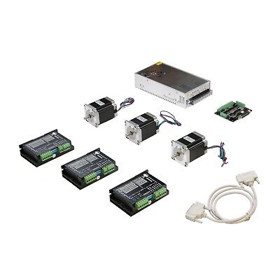 3Axis Nema23 Stepper Motor 270ozin 3A 23HS8430&Driver DM542A 4.2A CNC Router KIT