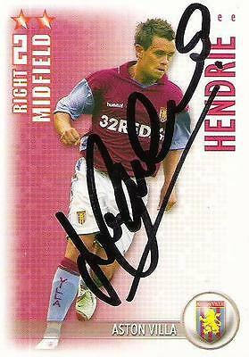 A Shoot Out card Lee Hendrie at Aston Villa. Personally signed by him. 2006-2007