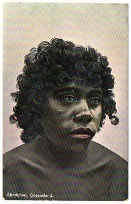 Early Queensland Australia ABORIGINE MAN  Shell Series  Postcard