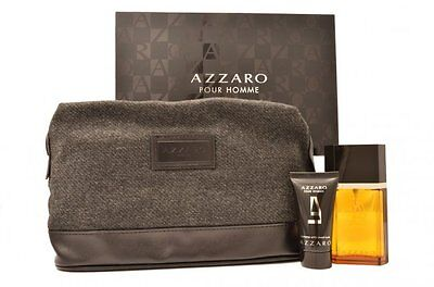 Coffret AZZARO POUR HOMME EDT 50ml Spray After Shave 30ml Trousse de toilette
