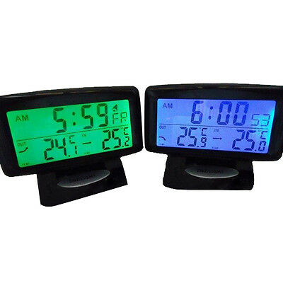 Car In Out Temperature Thermometer Auto Digital Clock Thermometers