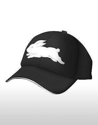 South Sydney Rabbitohs 2016 Media Cap Black NRL ISC One Size Fits Most