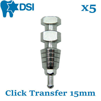 5x Dental Implant Transfer Impression Coping Closed Tray Click for Abutment