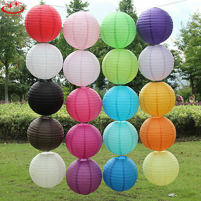 "5pcs 6"" Round Paper Lanterns Lamp Shade Wedding Party Festival Decoration"