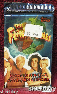 The Flintstone Movie Trading Card Pack 5 Packs (40 Cards) 1993 Topps
