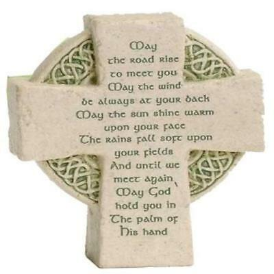 Roman Petite Standing Cross Celtic Irish Blessing Soft New