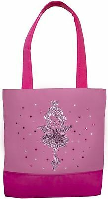 Ballet Girl Dance Tote Bag with Crystal and Pink Rhinestones ~ New ~ # 815
