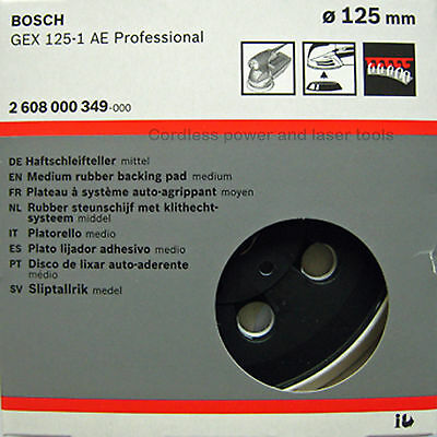 Bosch GEX 125-1 AE MEDIUM Sanding Pad 125mm Rubber Base Plate 2608000349