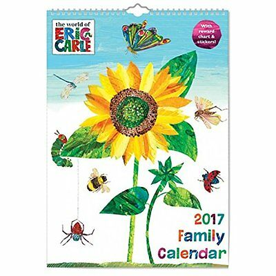 Hungry Caterpillar A3 Family Calendar with Reward Chart Function and Sticke