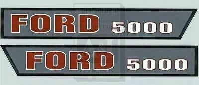 Ford Tractor Hood Decal Set   Model 5000