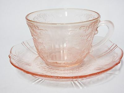 Vintage Pink American Sweetheart Cup & Saucer Set /14 Available / MacBeth Evans
