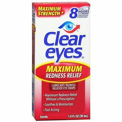 Lot Of 2 Clear Eyes Maximum Redness Relief 1 oz