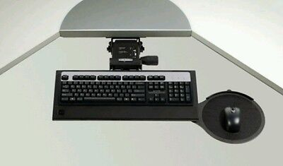NEW ERGOTECH Ergonomic Computer Keyboard Tray Mouse Pad Articulating Under Desk