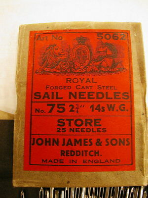 New from Old stock STORE SAIL NEEDLES made in ENGLAND!