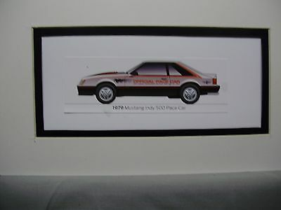 1979  Ford Mustang Indy Pace Car   From  50 Year Anniversary Exhibit by artist