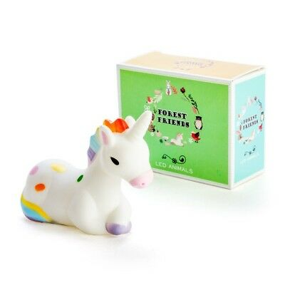 Forest Friends Unicorn Small LED Night Light Childrens Decor - Great Girls Gift!
