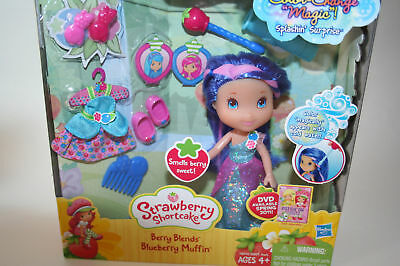 New Strawberry Shortcake Berry Blends Blueberry Muffin Doll Color Change Hair
