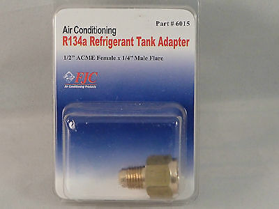 """FJC 6015 Air Conditioning R134A 1/2"""" FEMALE ACME X 1/4"""" R12 MALE FLARE ADAPTER"""