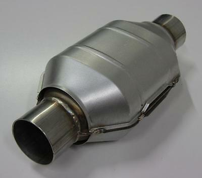 """2.5"""" 200 Cpi Metal Core Stainless Steel High Flow Cat Catalytic Converter Oval"""