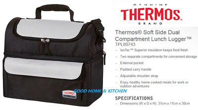 Thermos Lunch Lugger Soft Sided And Insulated Two Compartments