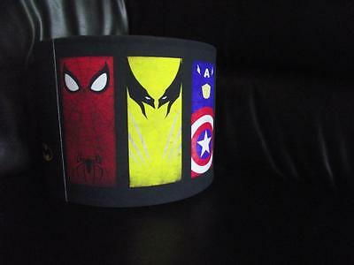 "SUPERHERO LOGOS D2 10"" DRUM CEILING LAMPSHADE LIGHTSHADE multi"
