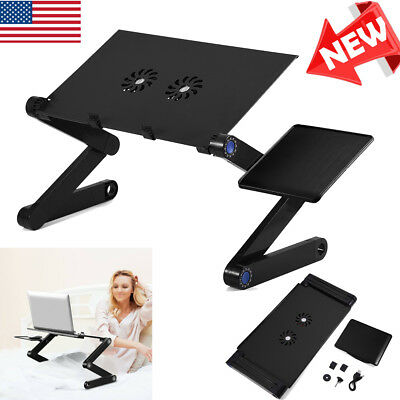 360° Adjustable Folding Laptop Table Lap Desk Bed Computer Tray Stand