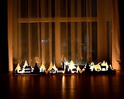 Christmas Decorations Wooden Candlestick Mantle Decor Christmas Ornament