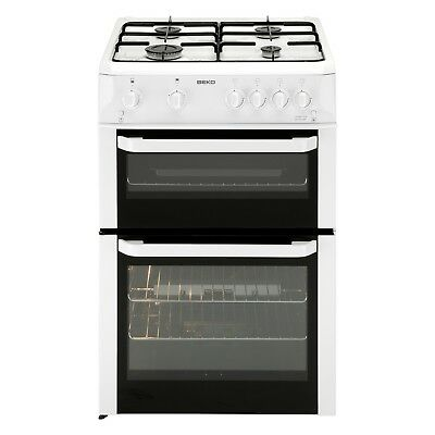 Beko BDG682WP 60cm White Free Standing Double Cavity Gas Cooker Hobs & Oven New