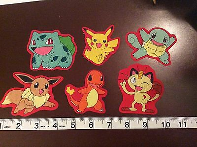Pokemon Pikachu and others  fabric iron on appliques